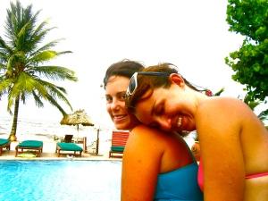 sara and i at the resort.